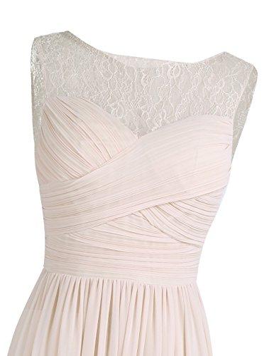 ae40d9c130ba86 ... Tiaobug Damen Kleider festliche elegant Brautjungfer Abendkleid  Hochzeit Cocktailkleid Chiffon Faltenrock langes kleid Gr. 34 ...