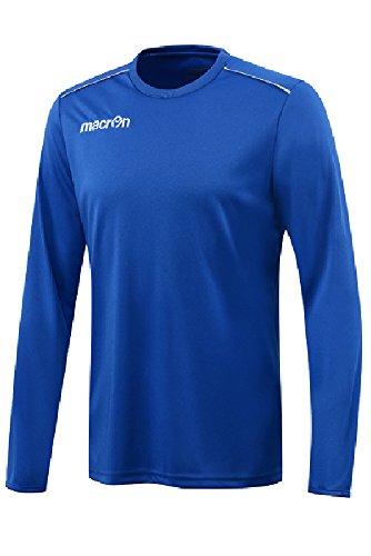 T-Shirt Sportiva Maniche Lunghe Maglietta da Calcio Calcetto Macron Rigel Shirt Azzurro