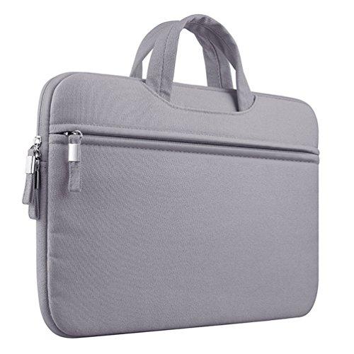 YiJee Tela Custodia Borsa Ventiquattrore Cartella Involucro Sleeve Case per Computer Portatile / Macbook Pro Air da 11-15 Pollici 15 Inch Grigio