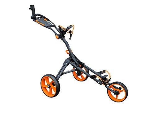 Caddie de golf iCart One Compact - 3roues - Gris/orange
