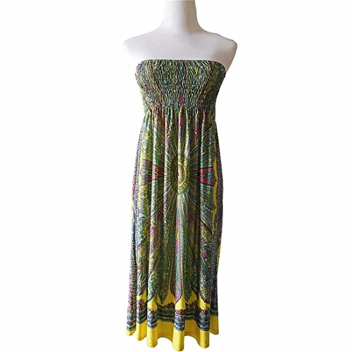 Qiyun 3008s0726–Robe pour femme Jaune