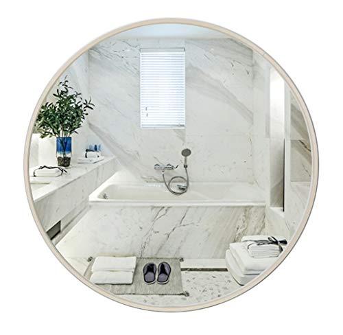 Runde Spiegel Holz Farbe Wandmontage Wohnzimmer Make-up Eitelkeit Badezimmer Rasieren Dressing Schlafzimmer Flur Dekorative Qualität Glas (30 cm - 80 cm) - Badezimmer-eitelkeit-holz-eitelkeit
