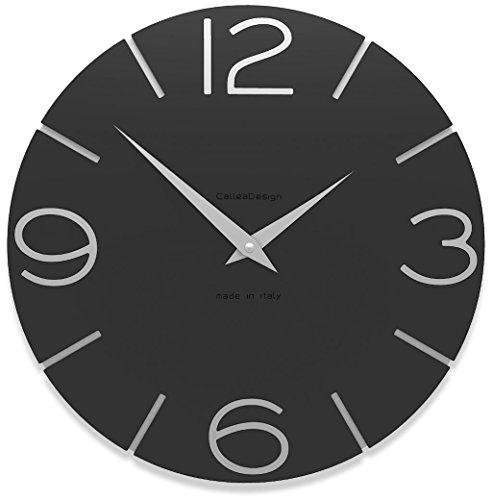 Calleadesign - Horloge murale Smile, noir