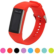 Correa de repuesto para pulsera de actividad Polar A360 Smart Watch iFeeker, correa de silicona y goma para la pulsera de actividad A360 (solo la correa, no incluye el reloj), rojo