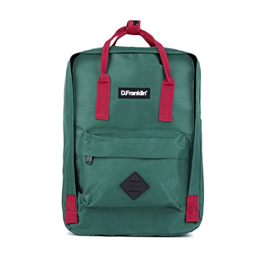 D  FRANKLIN BACKPACK  MOCHILA UNISEX ADULTOS  VERDE (GREEN)  16X36X27 CM (W X H X L)