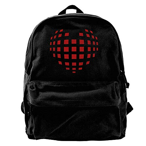 Rghkjlp 3D Model Heart 1c Mens and Womens Canvas Backpack School Laptop Bag Unisex