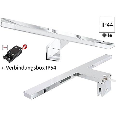 LED 4,5W Alluminio Specchio Lampada plafoniera da bagno IP44230V–Bianco freddo (6000K)–incl. Box IP54230V di collegamento 3poli