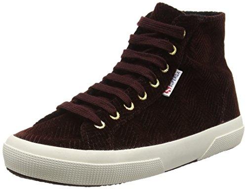 Superga 2795 Curveflannelw, Sneakers Unisex - Adulto, Rosso (Dk Bordeaux), 39.5 EU