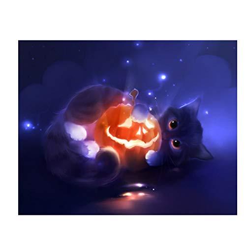 Vosarea Halloween Malerei 5D Diamant Stickerei Halloween Kürbis Kreuzstich Druck Handwerk Haus Wanddekoration (Halloween Handwerk Kürbis)
