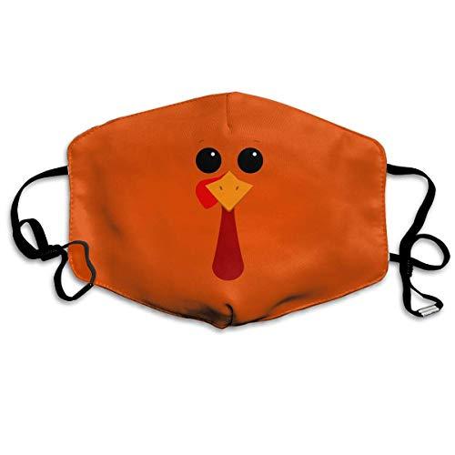 e Unisex-Mundmaske, Gesichtsmaske, Cute Turkey Orange Background Polyester Anti-dust Masks - Fashion Washed Reusable Face Mask for Outdoor Cycling ()