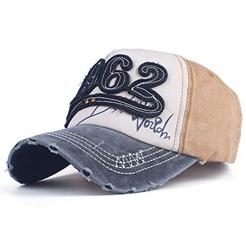 zhuzhuwen Gewaschen Unisex Patch Baseball Cap Retro lässig Stickerei mütze Hut 1 einstellbar -