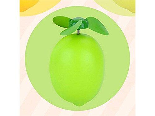Jkhgjuh personale ventola di ricarica carina usb di limone ventola di archiviazione leggera carina di fumetto (verde)