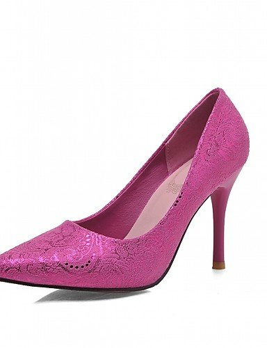 WSS 2016 Chaussures Femme-Bureau & Travail / Habillé / Décontracté-Bleu / Rouge / Beige-Talon Aiguille-Talons-Talons-Similicuir beige-us5 / eu35 / uk3 / cn34