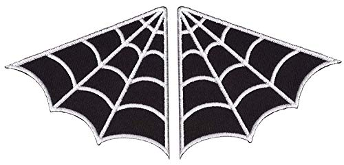 Titan One Europe Set of 2 - Black Spider Web Wing EMO Rockabilly...