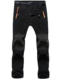 e3dab014e6 SUKUTU Men s Waterproof Windproof Outdoor Sports Pants Climbing Pants Soft  Shell Fleece Breathable SU010