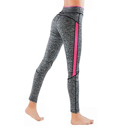 L&K-II Leggings Donne pantaloni di corsa con inserti in rete Fitness Yoga pantaloncini sportivi 4113 Rosa