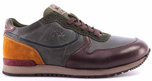 Scarpe Sneakers Uomo LA MARTINA L2081212 Calf Delave TMoro Calf Delave Green ITA