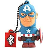 Marvel The Avengers - Captain America Official Merchandise Collectible 16 GB USB Flash Drive/Pen Drive And Keyring Holder