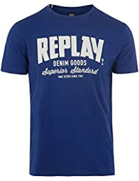 Replay S/S Print Tee, Blue