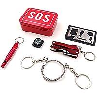 AzuNaisi Erste Hilfe Kit SOS Hilfe Outdoor Sport Camping Wandern Überleben Notgang Werkzeuge Box Kit Set Sport... preisvergleich bei billige-tabletten.eu