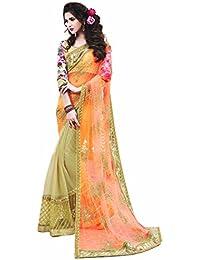Mahotsav Women's Net Jacquard Silk , Bhagalpuri Silk Sarees ( 8716 D )