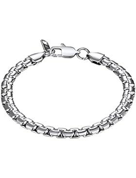 PROSTEEL Herren Armband Edelstahl Venezianierkette Box Kette Armband 6mm Breit Fashion Kettenarmband Armkette...
