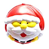 D DOLITY Juguete de Bolas Relajantes Patrón de Papa Noel de PU Esponja Pelota Exprimidor Masticar Animales