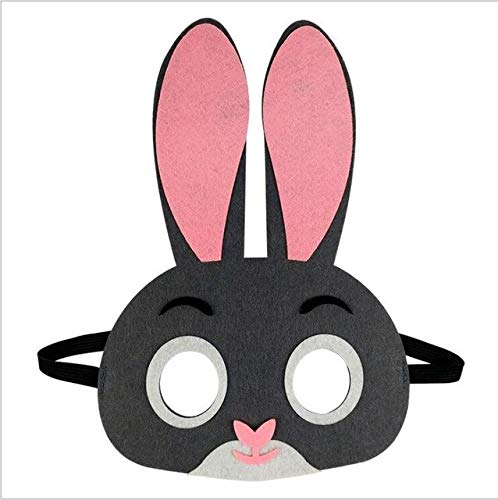 WasJmu Big Size Rabbit Fox Children Party Supplies Eva Foam Animal Masks Cartoon Kids Dress Up Costume Zoo Jungle Mask Party Decoration,A