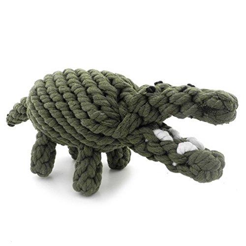 smalllee_lucky_store XCW0011 - Cuerda de cocodrilo para masticar para perros, color verde,...