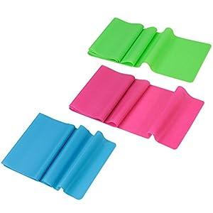 BB Sport Fitnessbänder Gymnastikbänder Überlänge 2,50 m 3er Set mit 3 verschiedenen Stärken