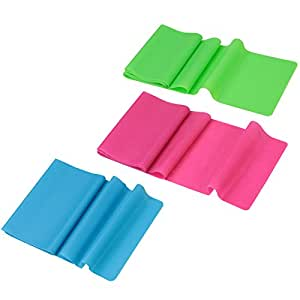 BB Sport Fitness Bands Gymnastics Bands Extra Length 2.50 m Set of 3 with 3 different strengths