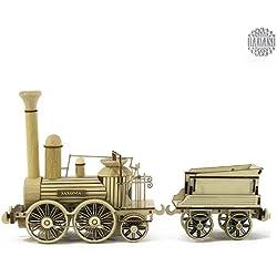 Damasu BS_SAX205 - Maqueta para montar (madera) diseño de locomotora y Ténder Saxonia