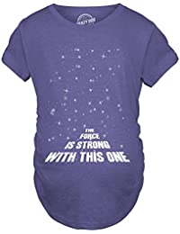 d863cbe45 Crazy Dog Tshirts - Maternity Force is Strong Funny Pregnancy T-Shirt for  Expecting Mothers