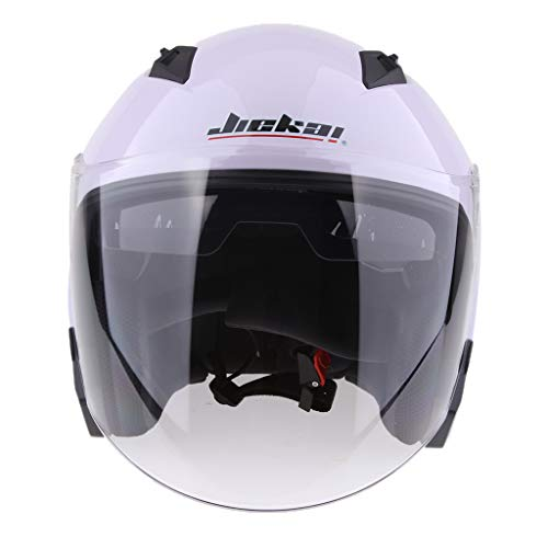 B Blesiya 1 Head Piece Buckle Adjustable Buckle Race Moocylist Plasticó - White XL