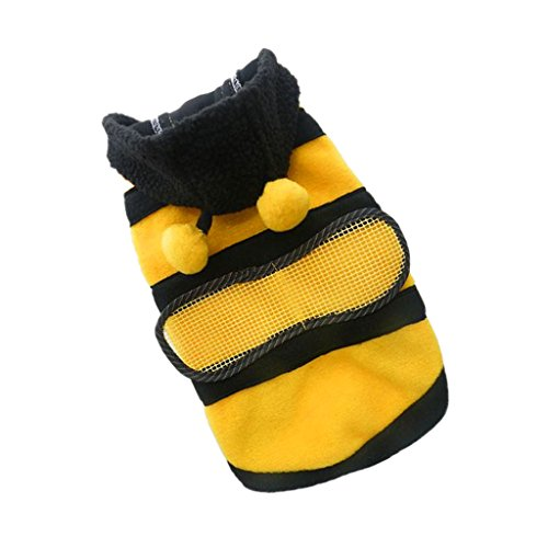 Generic Pet Hoodie Clothes Dog Cat Coat Puppy Apparel Fancy Bee Costume Outfit M