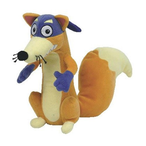 Dora the explorer - Swiper the Fox Plush - TY Beanie - 15.2cm 7""