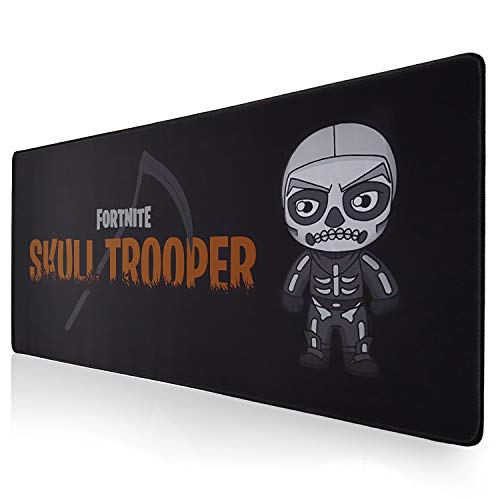 HappyFings Alfombrilla Raton Fortnite Gaming XXL | Design Skull Trooper 900 x 400 mm Grande Mousepad Regalo Ideal para Chico Chica niño