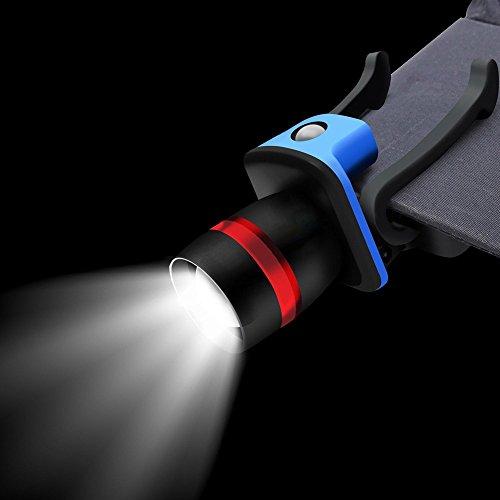 bescita LED Cap Light Scheinwerfer 3 Modi Ball Hut Lampe Zoombar Taschenlampe - Led Cap Light