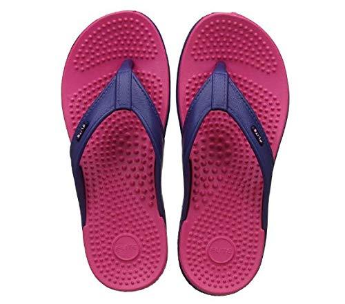 FLITE Accupressure Stylish Slippers for Women Fl-291 Blue Pink 4UK (BBH-FL-291-4-1)