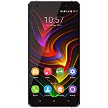 OUKITEL C5 Pro 4G Dual SIM Smartphone, 5.0 '' pantalla táctil Quad Core Android 6.0 teléfono móvil, 2 GB de RAM + 16 GB de memoria ROM, carga rápida - Negro