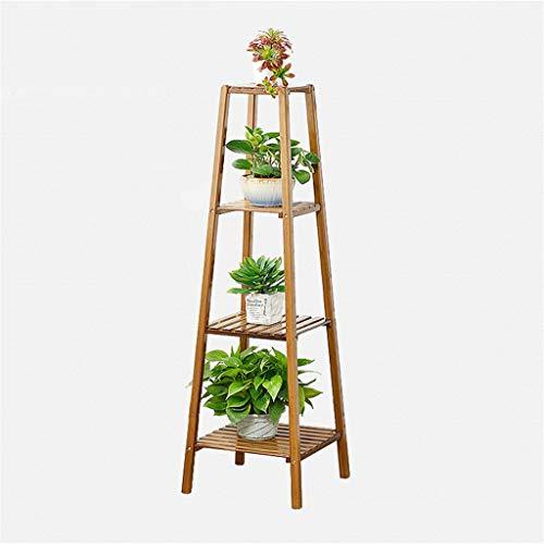 Edge to Porte-Fleurs Étagères de Flowerpot de Support d'usine d'échelle de Support de Fleur de Bambou pour Le Balcon d'intérieur, 4 rangées