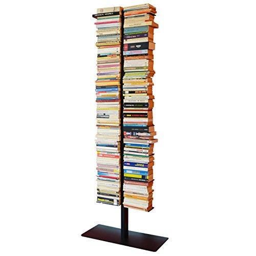 booksbaum double stand gross schwarz, 3tlg. best.aus: Halterung + Fuß + Einlegeböden
