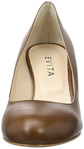 Evita Shoes Damen Bianca Pumps Braun (Cognac 26)