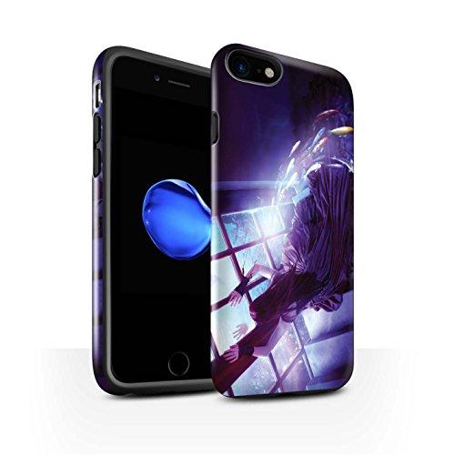 Officiel Elena Dudina Coque / Brillant Robuste Antichoc Etui pour Apple iPhone 8 / Laisse Moi Entrer Design / Agua de Vida Collection Laisse Moi Entrer