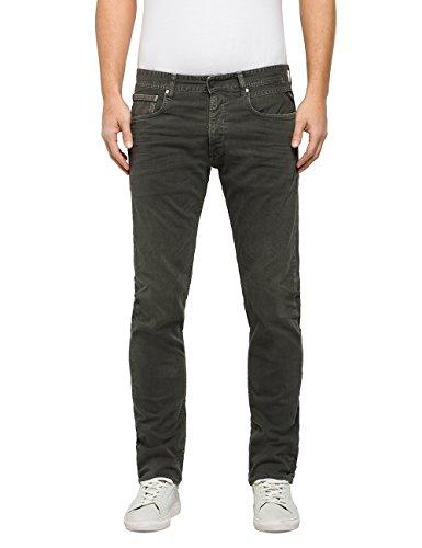 Replay Herren Grover Straight Jeans, Grün (Medium Green 40), W31/L32 (Herstellergröße: 31)