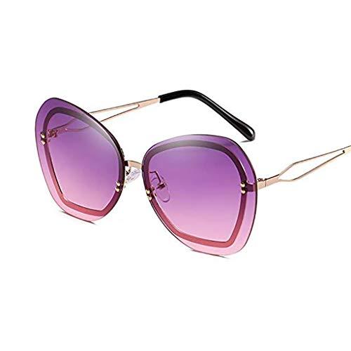 Der Geschmack von zu Hause Herren Sonnenbrillen Frauen Europa und die Vereinigten Staaten Gezeiten Marke Sonnenbrillen kein Rahmen Reis Nagel Dekoration Dame Sonnenbrillen große Box Trend Sonnenbrille