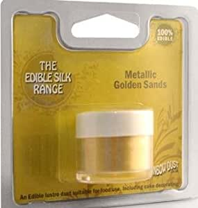 Rainbow Dust Edible Sparkles Silk Metallic Golden Sands