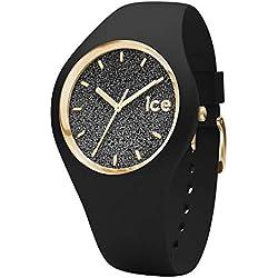 Ice-Watch - Ice Glitter Black - Montre Noire pour Femme avec Bracelet en Silicone - 001349 (Small)