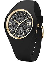 Ice-Watch - ICE glitter Black - Montre noire pour femme avec bracelet en silicone - 001356 (Medium)