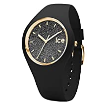 Ice-Watch - ICE glitter Black - Women's wristwatch with silicon strap - 001356 (Medium)